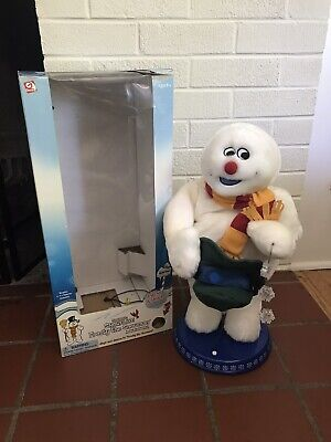 Gemmy Frosty The Snowman Christmas Animated Dancing Spinning Snowflake 18""