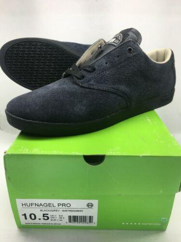 Huf Hufnagel Pro Black/Grey Skate Shoe SIZE 10.5 / 44