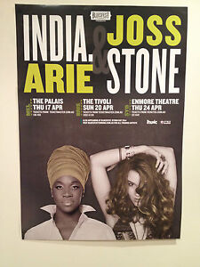 INDIA-ARIE-JOSS-STONE-2014-Australian-Tour-Poster-Acoustic-Soul-Sessions-NEW