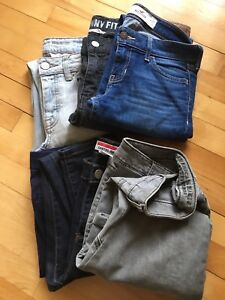 Jeans size 1-2 (xs-s), 6 pairs, conditions like new