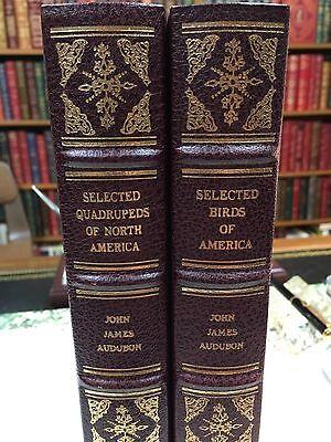 Audubon: Birds and Quadrupeds of North America: Volair: Franklin Library: 2 Vols