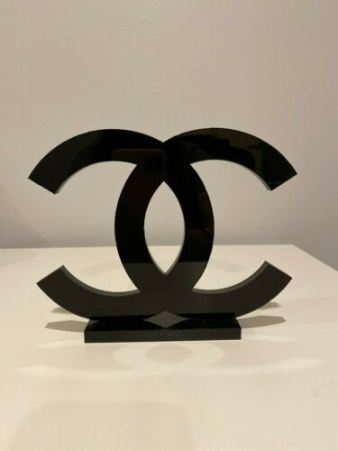 Rare Chanel CC Logo Sign for Display CLEAR