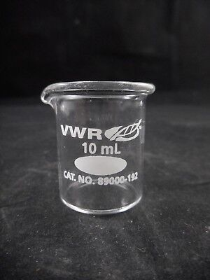 Vwr Glass 10ml Standard Duty Low Form Griffin Beaker 89000-192