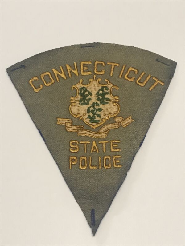 Vintage Felt Connecticut State Police Patch - highway patrol old state patrol