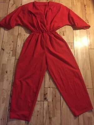Vintage Red Jumpsuit 1980 Boiler Suit 8-10-12 Madonna