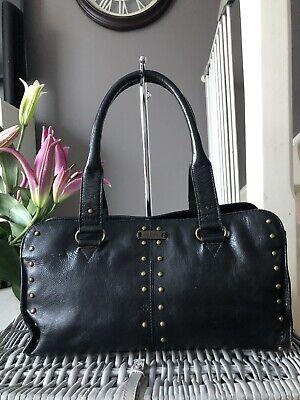 Lovely Designer Genuine Hidesign Black Leather Handbag Over Shoulder Bag Tote