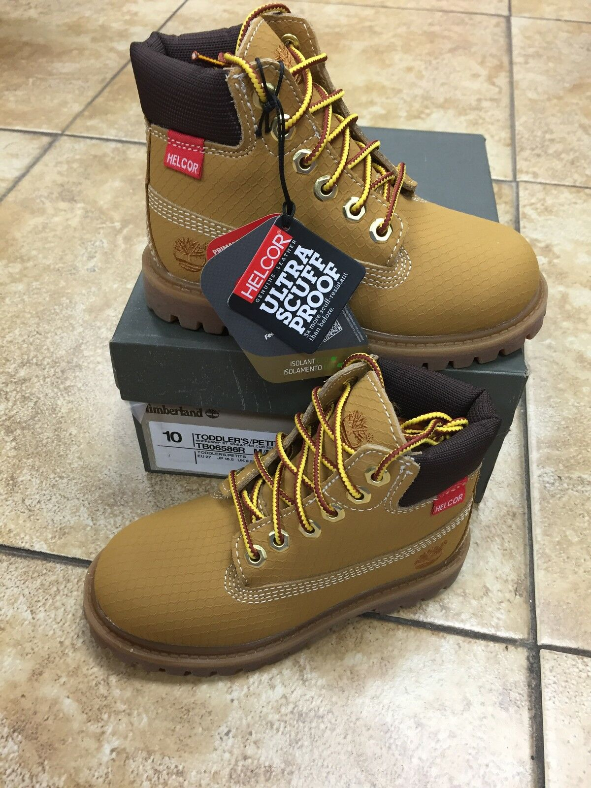 "NEW BABY TIMBERLAND 6"" WATERPROOF PREMIUM HELCOR TODDLERS BOOT  [6586R]  WHEAT 1"