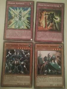 YU-Gi-Oh cards: Heroic Challenger mini set Valley View Salisbury Area Preview