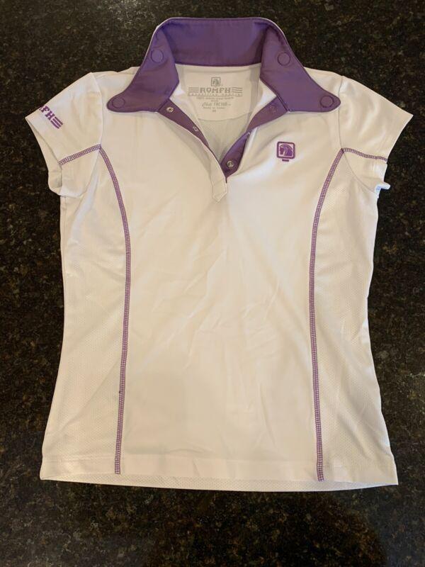 Romfh Kids Magnet Show Shirt- Short Sleeve White & Purple Stitching Size Medium
