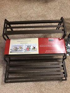 Spice rack 3 Tier Expanding Shelf Organizer