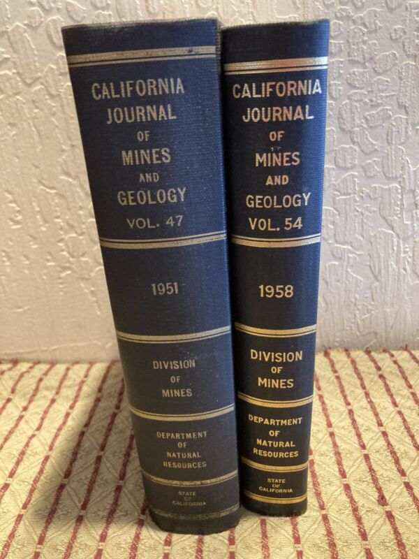2 CALIF Journal Mines Geology Vol 47-54 Div Mines HC TULARE COUNTY INYO MAPS VG