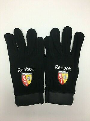 New Rare Reebok Racing Club De Lens Field Player Fleece Football Gloves for sale  Wilmslow