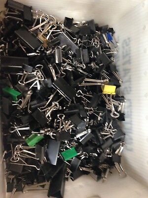 1000 Used Binder Clips 4 Sizes