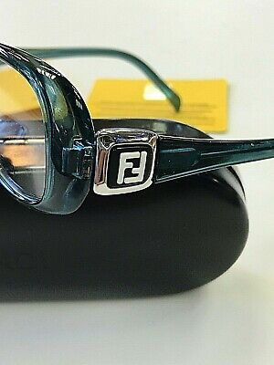GENUINE FENDI F900 443 Women's EYEGLASSES AQUA FRAMES 52-15-135 New w/ Case (Fendi Eyeglass)