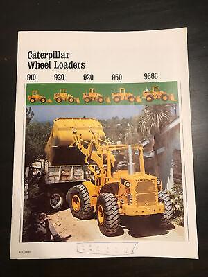 Oem Caterpillar Sales Brochure 910 920 930 950 966c Construction Loader