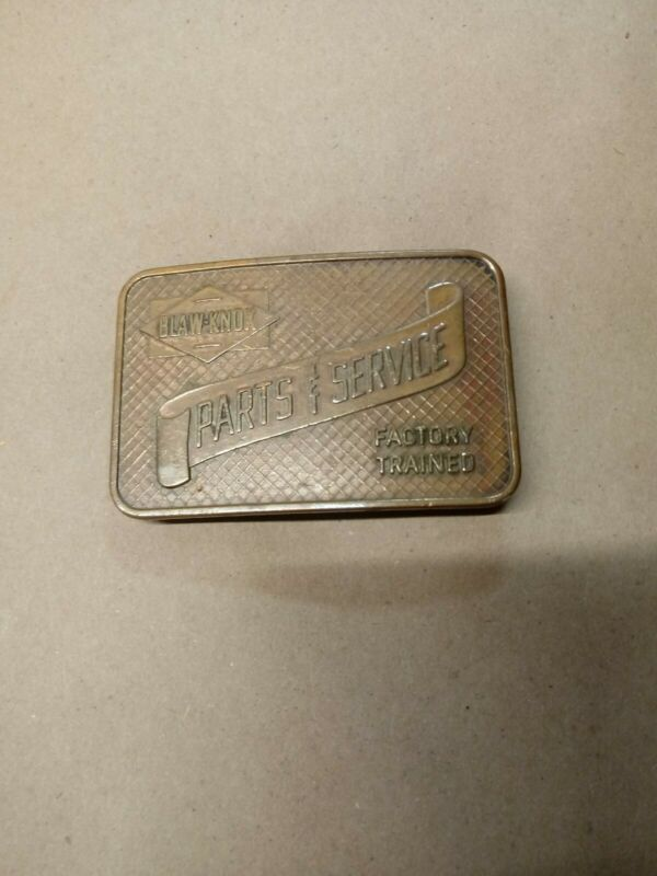 VTG Blaw-Knox Parts& Service Factory Trained  Brass Belt Buckle