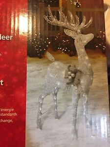 4 ft LED Sparkling Reindeer