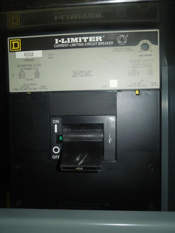 Square D I-limiter Current Limiting Circuit Breaker Lip36400 400a 3p 600vac Used