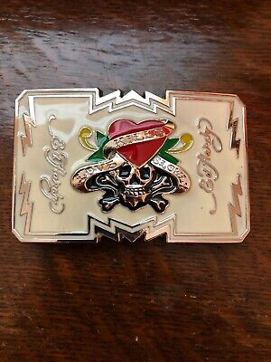 ED HARDY LOVE KILLS SLOWLY BELT BUCKLE - LARGE 4