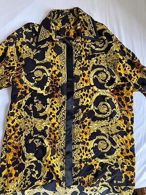 Versace Gold Print Shirt, Size EU38