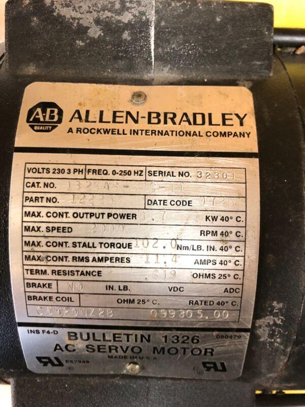 Allen Bradley 1326AB-B2C-11 Servo Motor