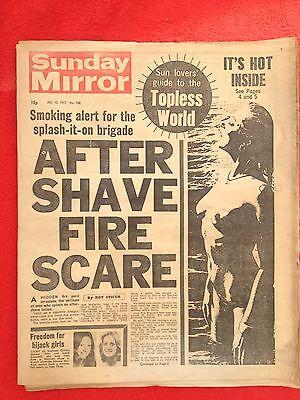 Sunday Mirror newspaper 10th July 1977.