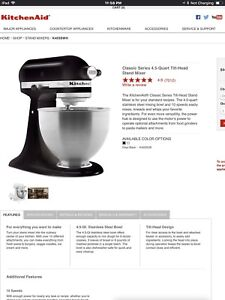 The KitchenAid Classic Series in onyx