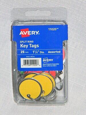 Avery Split Ring Key Tags 11020