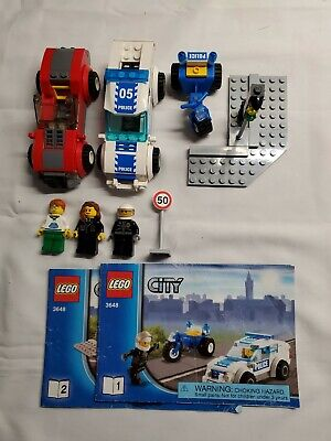 Lego City Police Chase #3648; 100% Complete w Minifigures/Books