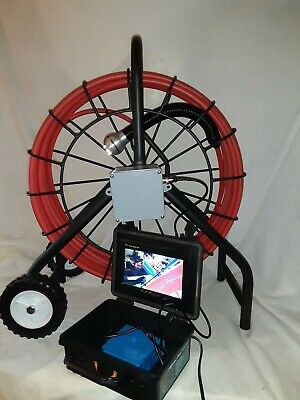 Sewer Snake Pipe Cleaner Video Inspection Camera System Locator Sonde