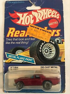 Hot Wheels '57 T-Bird Real Riders Series #4357 Metal Hong Kong Base 1982