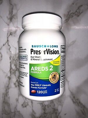 PreserVision Areds 2 120 Softgels Bausch + Lomb Eye Vitamin & Mineral MAR 2022