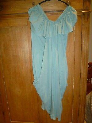 Hoss Intropia dress in pale green silk Stunning grecian size 38 UK 10