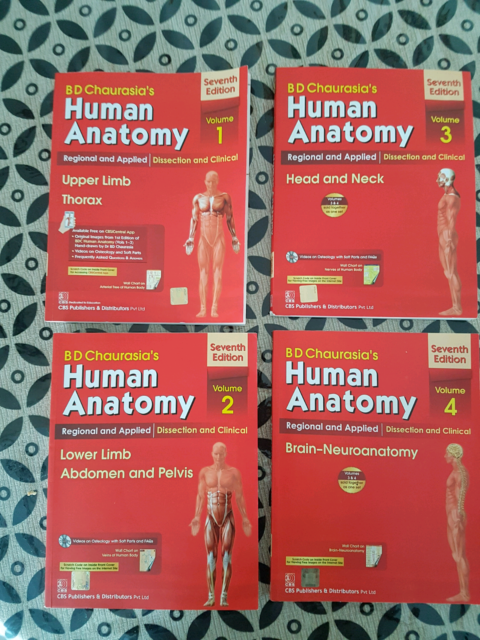Bdaurasia39s Human Anatomy Set Of 4 Textbooks Gumtree