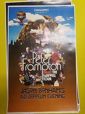 Peter Frampton 11x17 final tour 2019 promo tour concert poster all venues lp