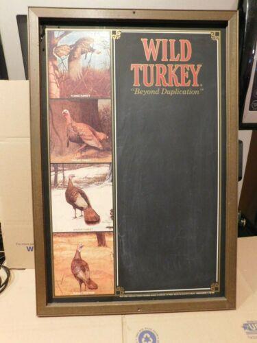 VERY COOL 1982 WILD TURKEY KENTUCKY BOURBON CHALKBOARD SIGN