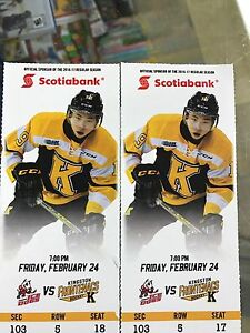 Frontenacs VS Ice Dogs This Friday night 7 PM