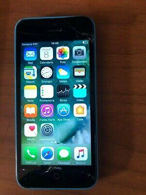 8132-Smartphone Apple iPhone 5C A1507 Azzurro 8GB, usado comprar usado  Enviando para Brazil