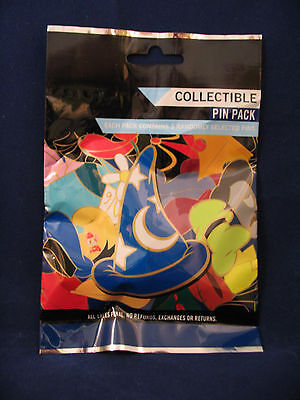 Disney Pin Mystery Pack MICKEY WIZARD HAT Collectible Randomly Selected 5 Pins