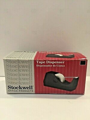 Stockwell Vintage Desktop Tape Dispenser - 34 Inch Black Brand New In Box