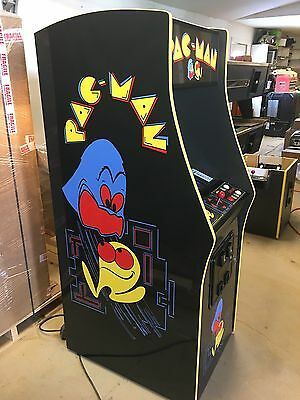 Restored Black PacMan Arcade Machine, Upgraded