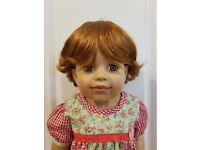 "WIG ONLY NWT Monique Ginger Golden Blonde Doll Wig 17-18/"" fits Masterpiece Doll"