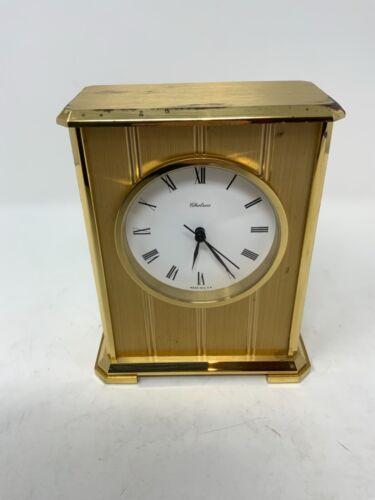 Chelsea Brass Quartz Clock