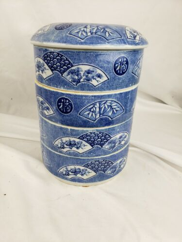 """Excellent antique/vintage chinese/japanese stackable bowls 10"""""""