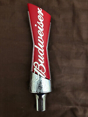 "Budweiser Bowtie Logo Beer Tap Handle 13"" Tall"