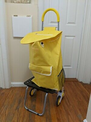 Dbest Products Stair Climber Bigger Trolley Dolly Shopping Cart Yellow