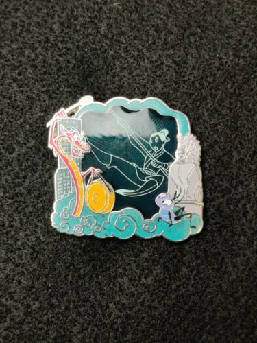 Disney Store Pin Park Pack 2.0 LE 500 Mulan Stained Glass Blue Ping Mushu CriKee