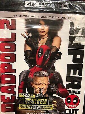 New Deadpool 2 Super Duper Cut (4K Ultra HD + Blu-ray + Digital) New Sealed