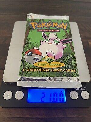 1999 Pokemon 1st Edition Jungle Booster Pack Wigglytuff Art 21.00g MINT!