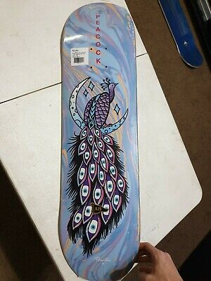 Peacock  Lunar Primitive Skateboard Deck - 8.25 (Griptape Included)